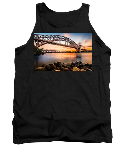 Hell Gate And Triboro Bridge At Sunset Tank Top