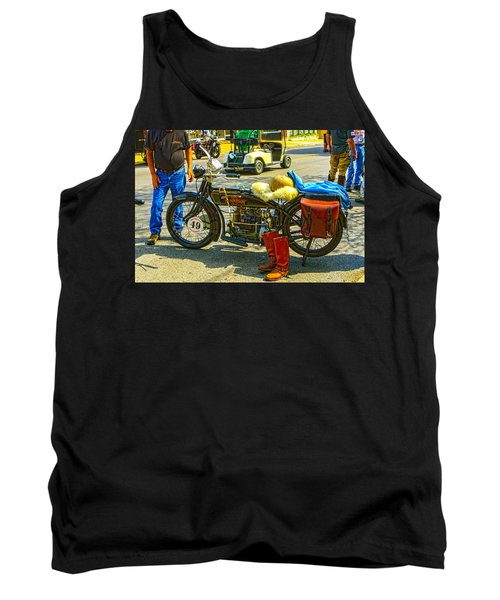 Henderson At Cannonball Motorcycle Tank Top
