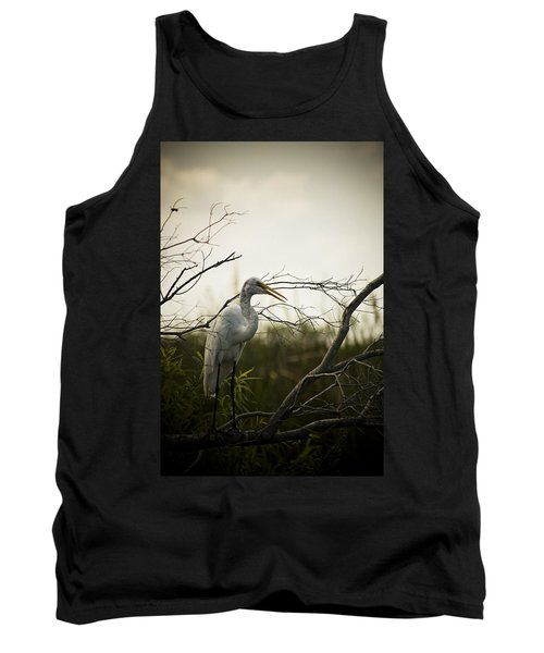Heron At Dusk Tank Top