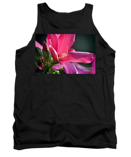 Tank Top featuring the photograph Hibiscus Morning Bright by Nava Thompson
