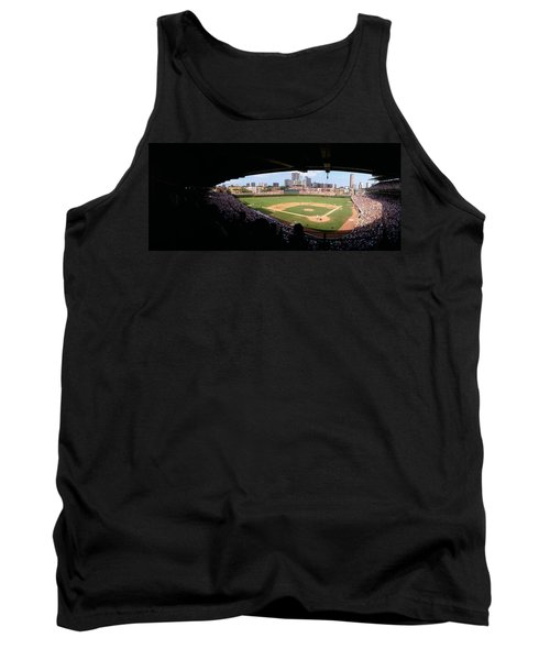 High Angle View Of A Baseball Stadium Tank Top