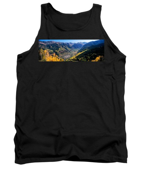 High Angle View Of A Valley, Telluride Tank Top