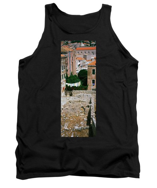 High Angle View Of The Old Ruins Tank Top