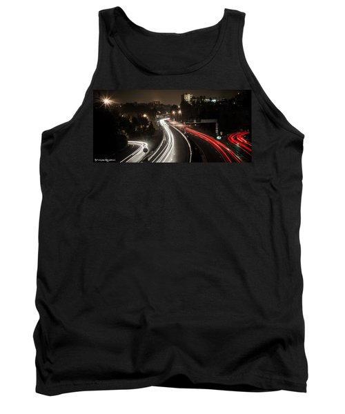 Tank Top featuring the photograph Highway's Lights by Stwayne Keubrick