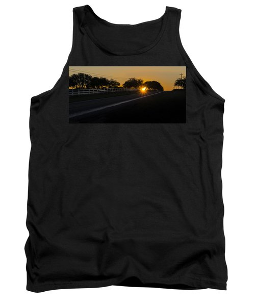 Hill Country Sunrise 2 Tank Top by Debbie Karnes