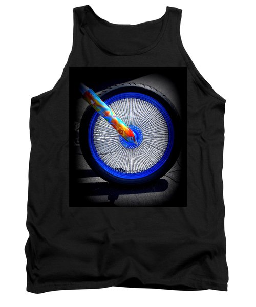 Tank Top featuring the photograph Hippie Bike by Laurie Perry
