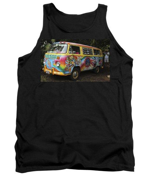 Vintage 1960's Vw Hippie Bus Tank Top