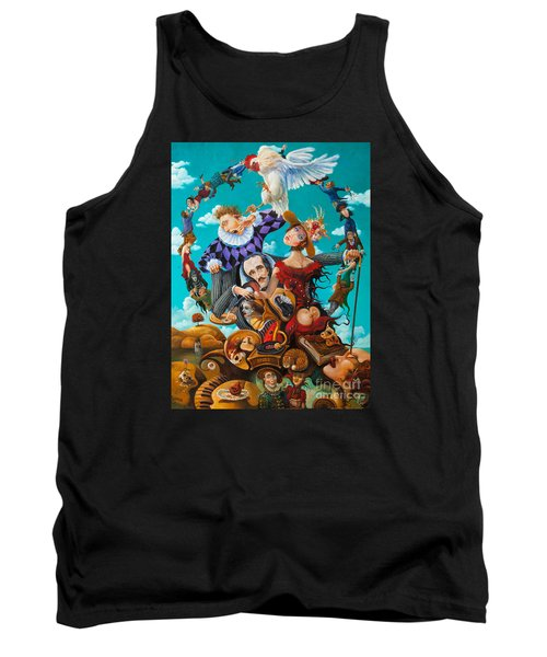 Tank Top featuring the painting His Majesty Edgar Allan Poe by Igor Postash