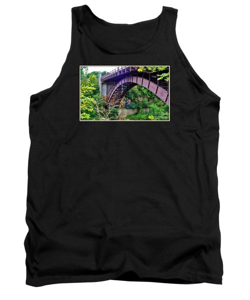 Historic Ausable Chasm Bridge Tank Top by Patti Whitten