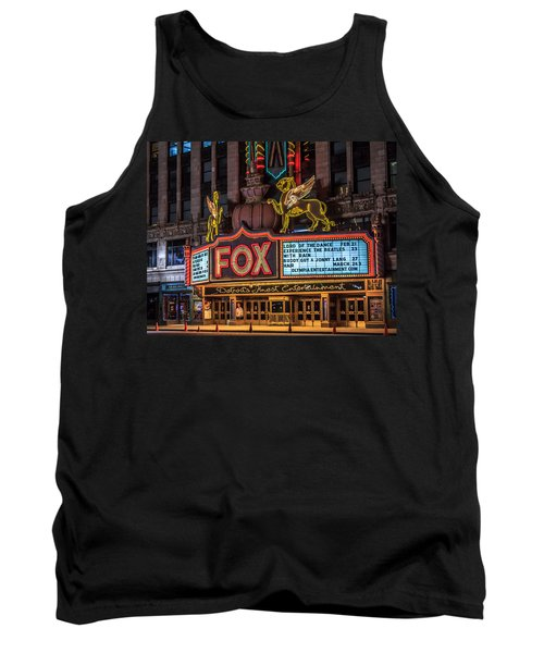 Historic Fox Theatre In Detroit Michigan Tank Top