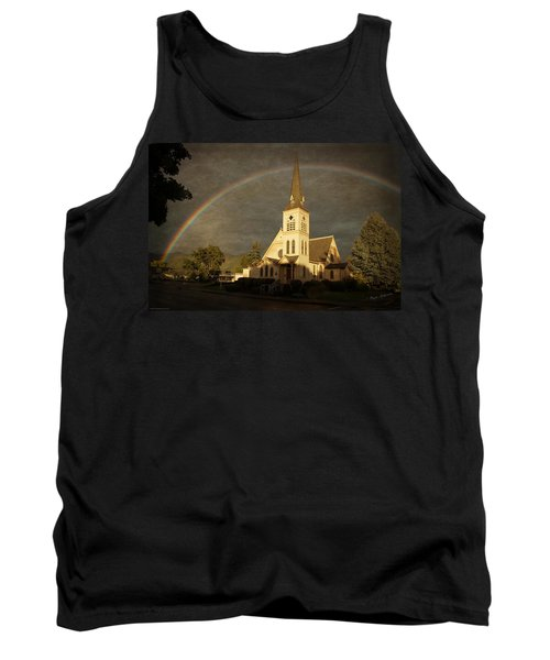 Historic Methodist Church In Rainbow Light Tank Top