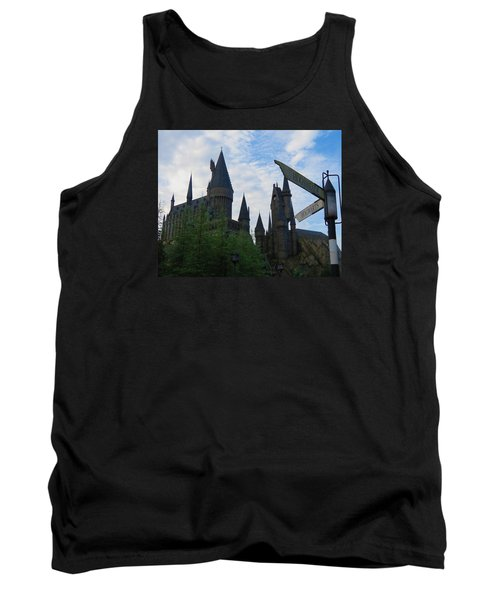 Hogwarts Castle With Signs Tank Top by Kathy Long