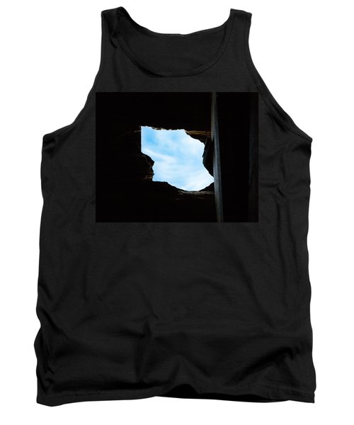 Tank Top featuring the photograph Hole In The Roof  by Gary Heller