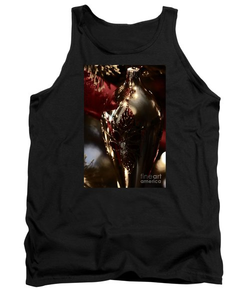 Tank Top featuring the photograph Holiday Sparkle In Red by Linda Shafer