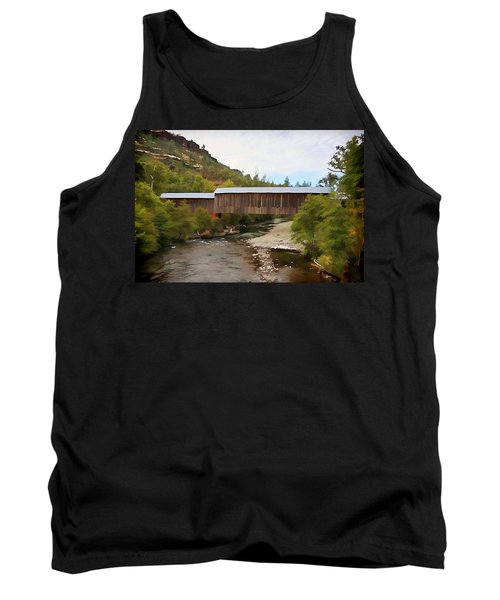 Honey Run Covered Bridge Tank Top