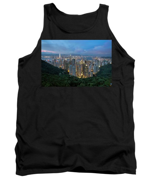 Hong Kong From Sky Terrace 428 At Victoria Peak Tank Top