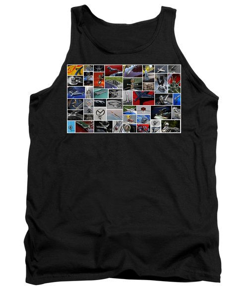 Tank Top featuring the photograph Hood Ornament Collage by Mike Martin