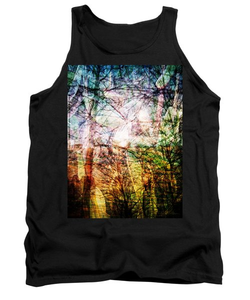 Tank Top featuring the mixed media Hoosier Country Opus 1 by Sandy MacGowan