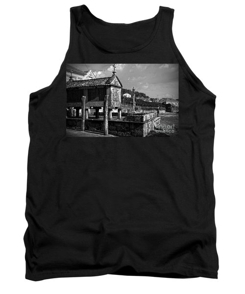 Horreo And Cruceiro In Galicia Bw Tank Top