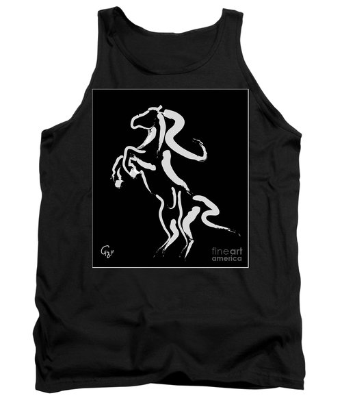 Horse -black And White Beauty Tank Top by Go Van Kampen