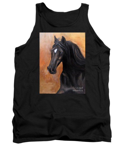 Tank Top featuring the painting Horse - Lucky Star by Go Van Kampen