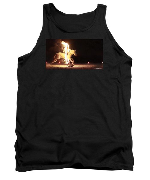 Tank Top featuring the photograph Horse On Fire by Stwayne Keubrick