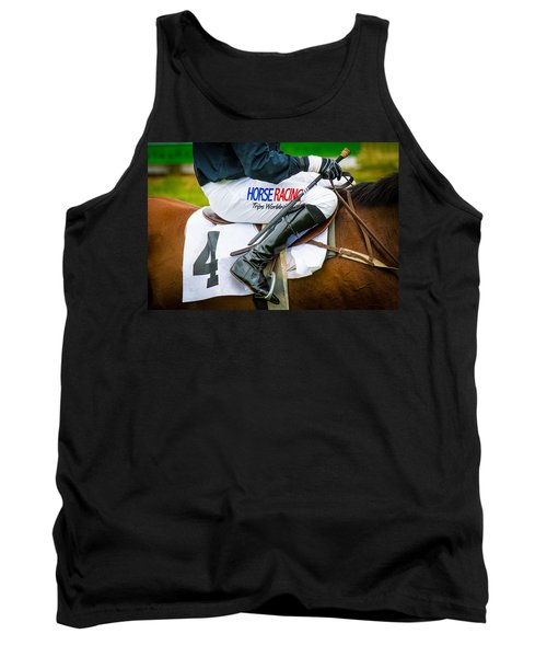 Tank Top featuring the photograph Horse Racing by Robert L Jackson