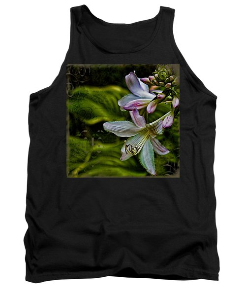 Hosta Lilies With Texture Tank Top