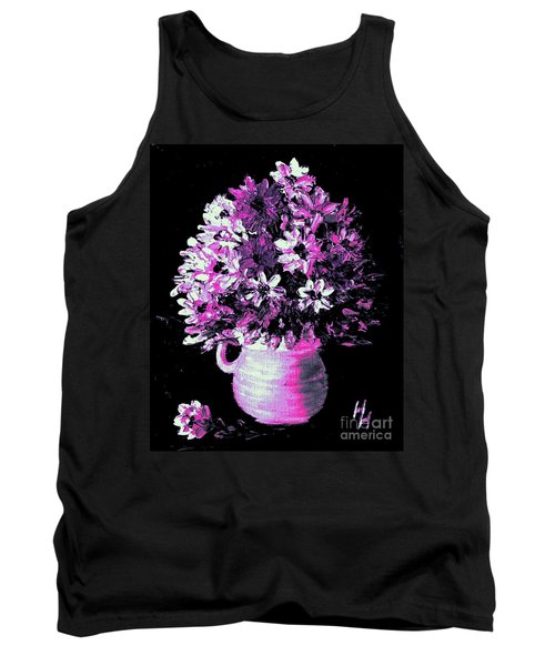 Hot Pink Flowers Tank Top
