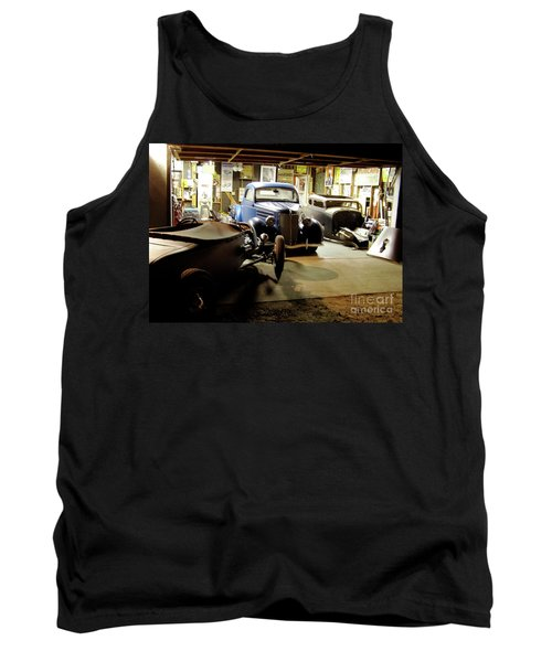 Hot Rod Garage Tank Top by Alan Johnson