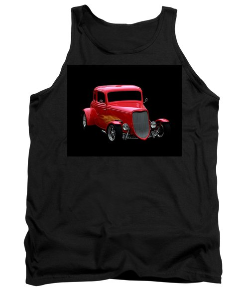 Hot Rod Tank Top featuring the photograph Hot Rod Red by Aaron Berg