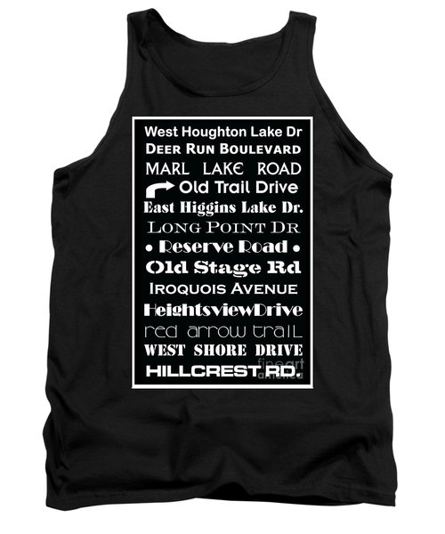 Houghton Higgins Subway Sign Tank Top by Desiree Paquette