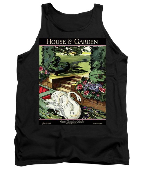 House & Garden Cover Illustration Of A Swan Tank Top
