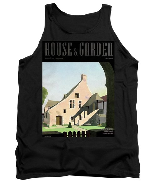 House & Garden Cover Illustration Of An Historic Tank Top