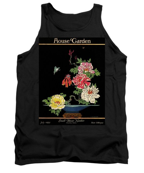 House & Garden Cover Illustration Of Peonies Tank Top