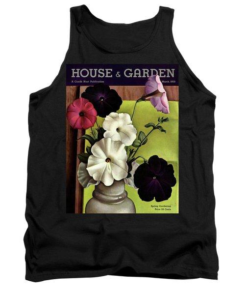 House & Garden Cover Illustration Of Petunias Tank Top