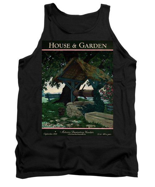 House And Garden Autumn Decorating Number Cover Tank Top