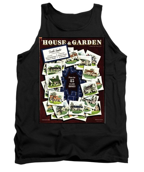 House And Garden Cover Featuring A Collage Tank Top