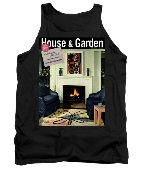 House And Garden Cover Featuring A Living Room Tank Top