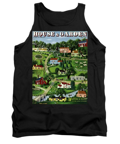 House And Garden Cover Featuring An Illustration Tank Top