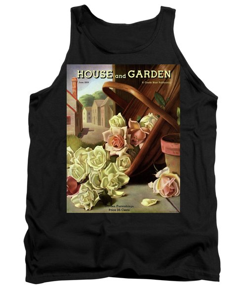 House And Garden Cover Of An Upturned Basket Tank Top