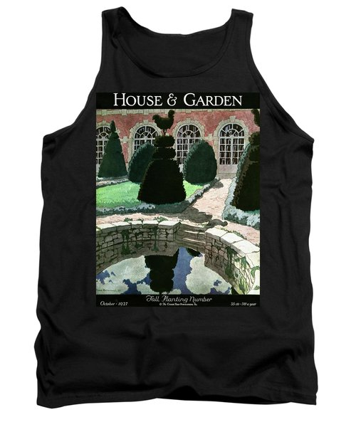 House And Garden Fall Planting Number Cover Tank Top