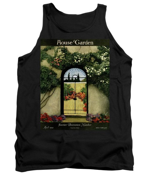 House And Garden Interior Decoration Number Tank Top