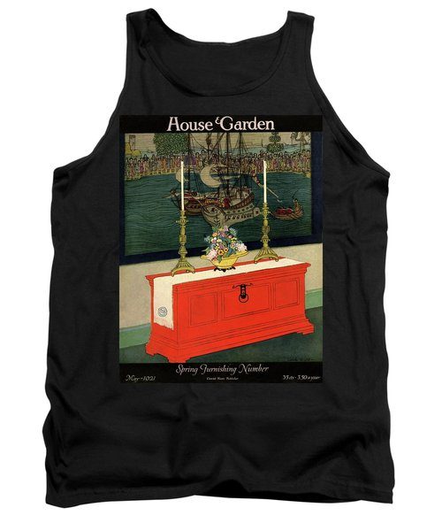 House And Garden Spring Furnishing Number Cover Tank Top