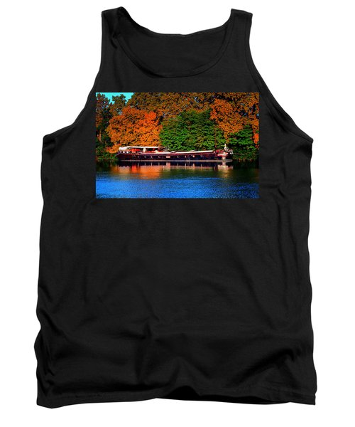 Tank Top featuring the photograph House Boat River Barge In France by Tom Prendergast