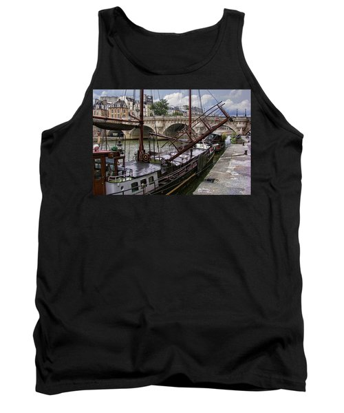 Houseboat On The Seine Tank Top