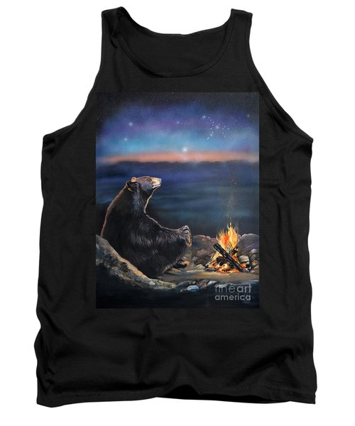 How Grandfather Bear Created The Stars Tank Top by J W Baker