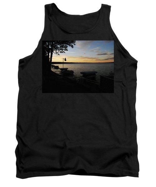 Hubbard Lake Sunset Tank Top