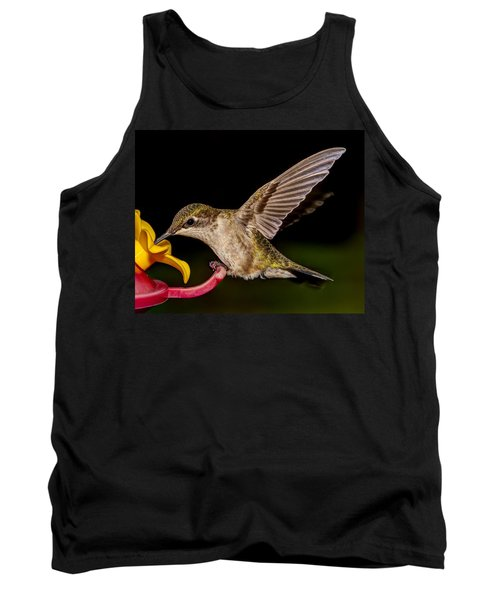 Ruby Throated Hummingbird Tank Top by Brian Caldwell