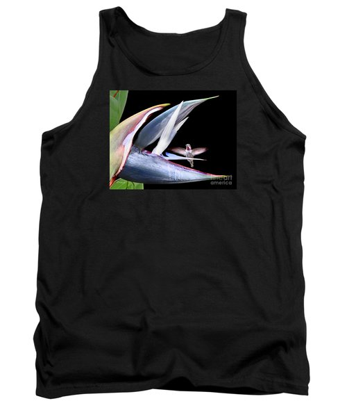 Tank Top featuring the photograph Hummingbird Paradise by Jennie Breeze